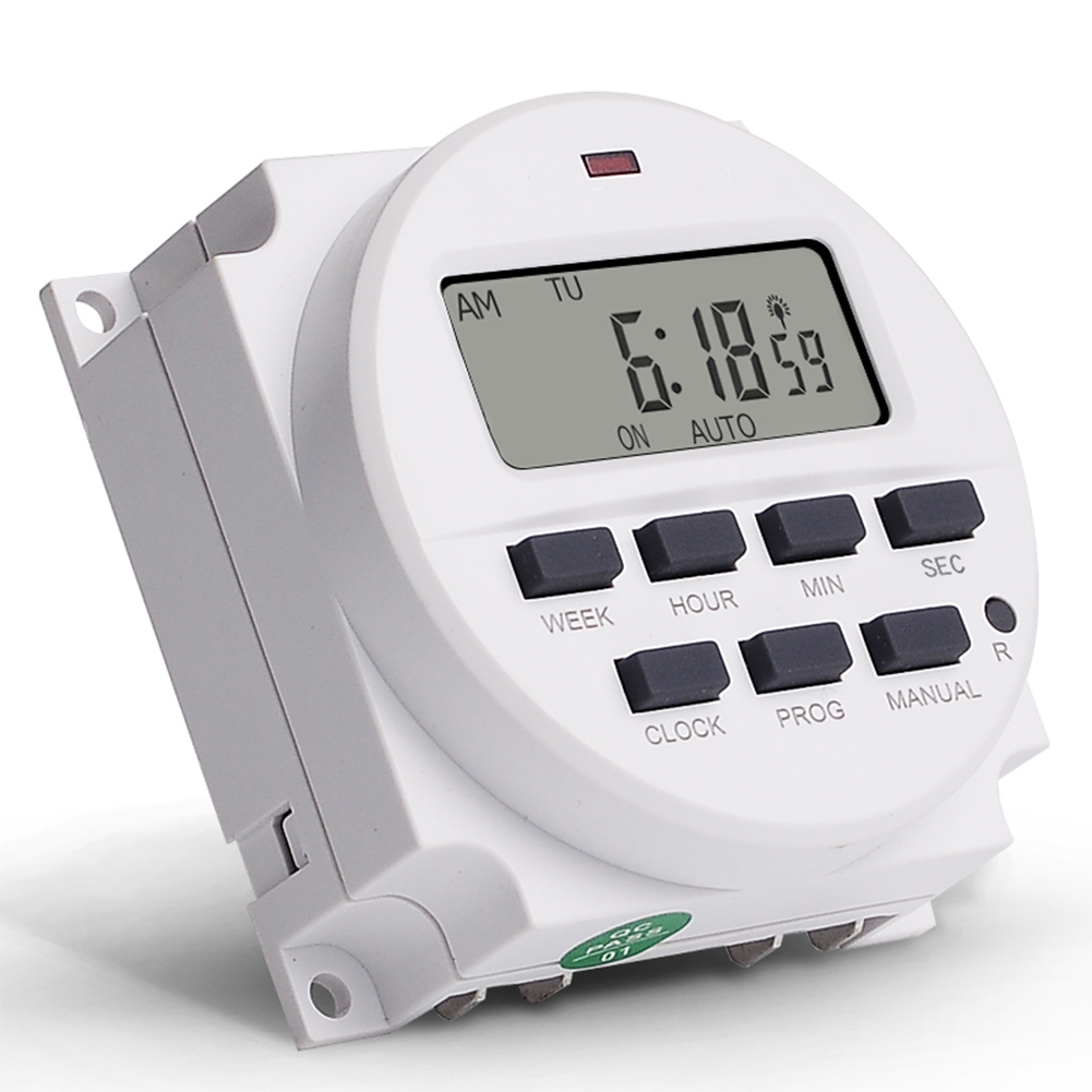 DC12V Digital 7 Days Programmable 24 Hours Cycle Timer Switch
