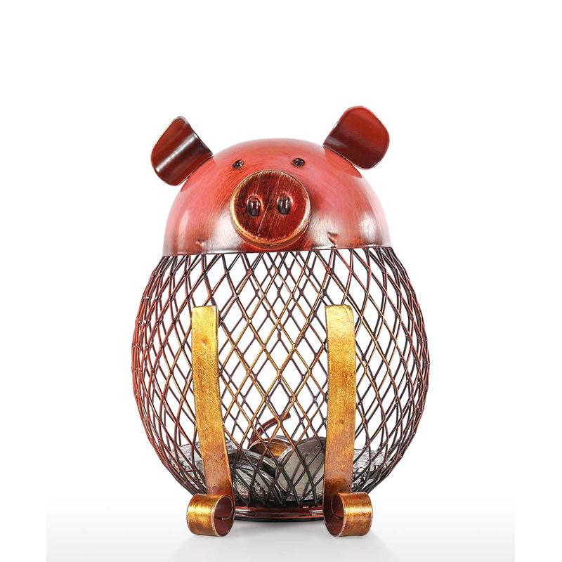 Iron  Piggy/Chick/Dog  Bank Coin  Storage Case Home Decoration Animal Figure Iron Art Piggy bank
