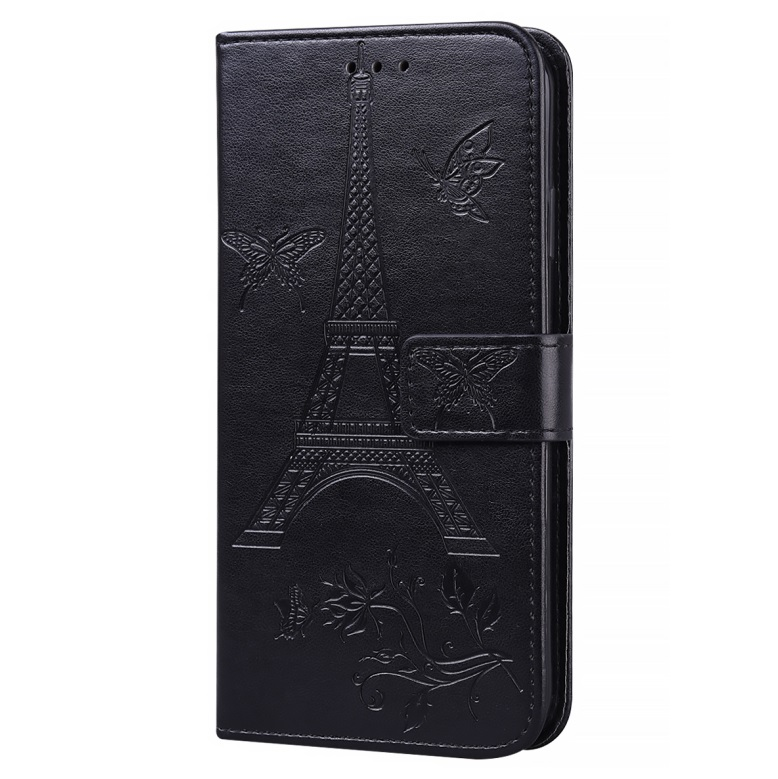 For iPhone12Promax Phone Cover 6.7Inch Mobile Phone Cover with Card Slot Phone Bracket black
