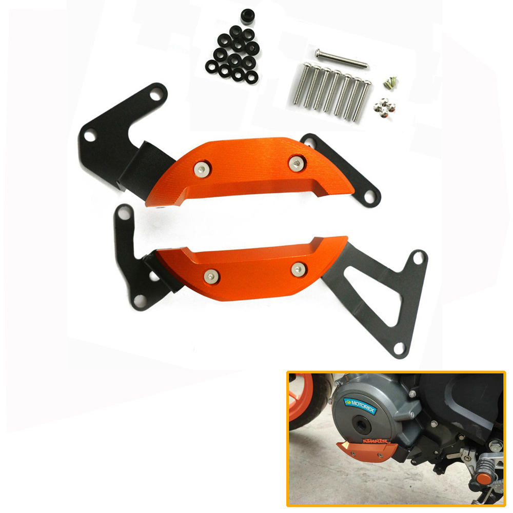 Motorcycle Engine Guard Slider Protection Cover for KTM DUKE 390 RC390 2017-2019 Accessories Orange