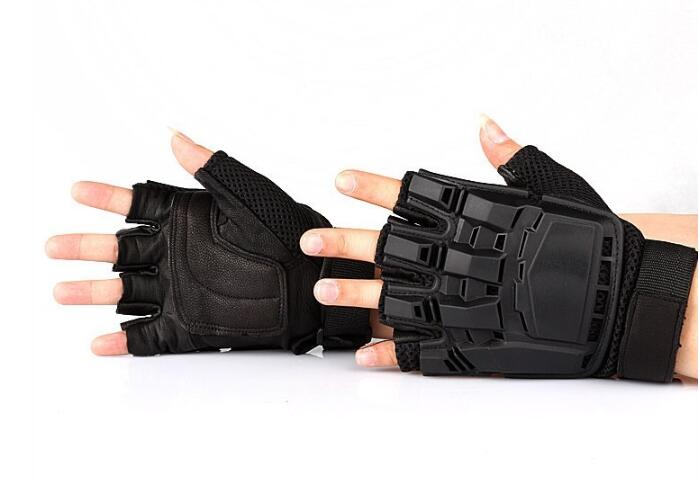 Military Airsoft Paintball Police Tactical Gloves Half Finger Protect Armed Gloves M