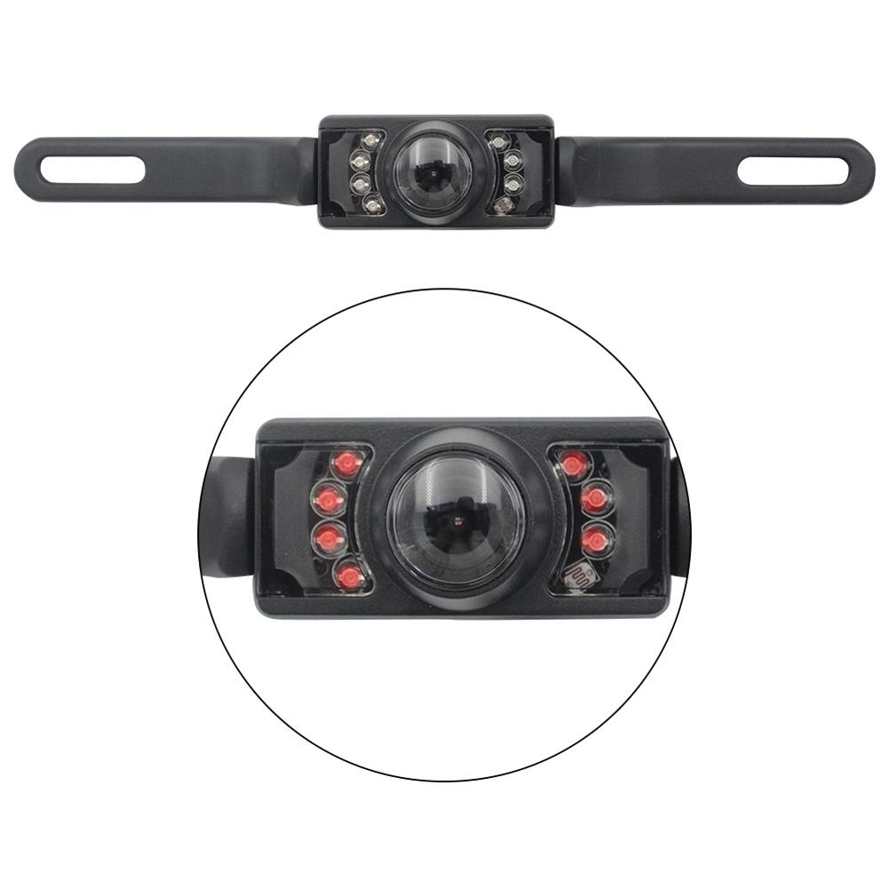 Car Rear View Backup Camera License Plate Frame CMOS Vehicle Camera black
