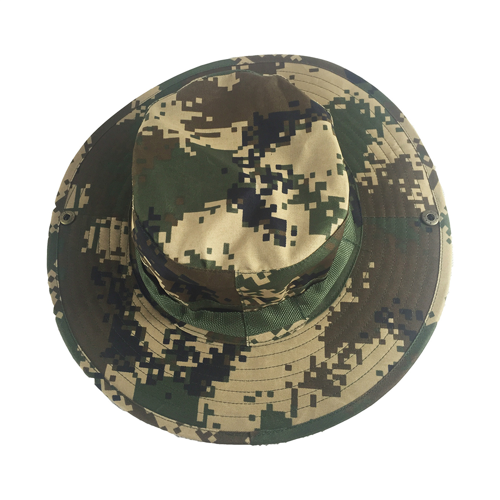 Camouflage Bucket Hats Fisherman Hat With Wide Brim Sun Fishing Bucket Hat Camping Caps 6