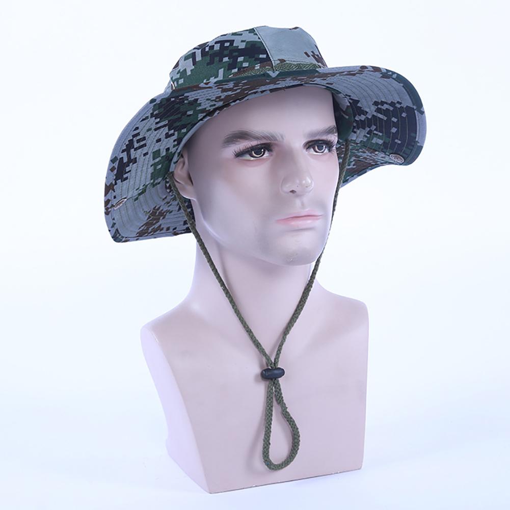 Camouflage Bucket Hats Fisherman Hat With Wide Brim Sun Fishing Bucket Hat Camping Caps 07 Digital