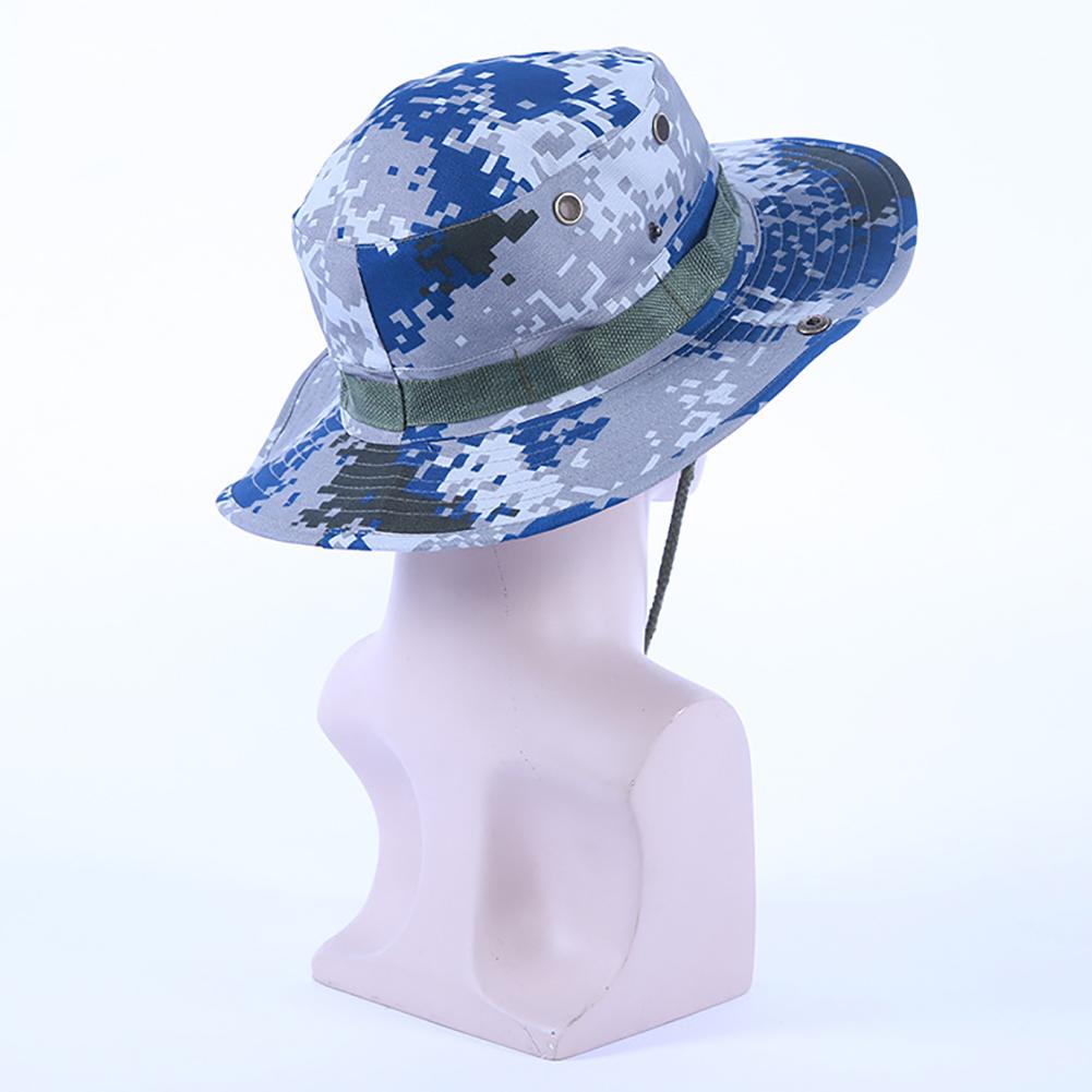 Camouflage Bucket Hats Fisherman Hat With Wide Brim Sun Fishing Bucket Hat Camping Caps 07 Ocean