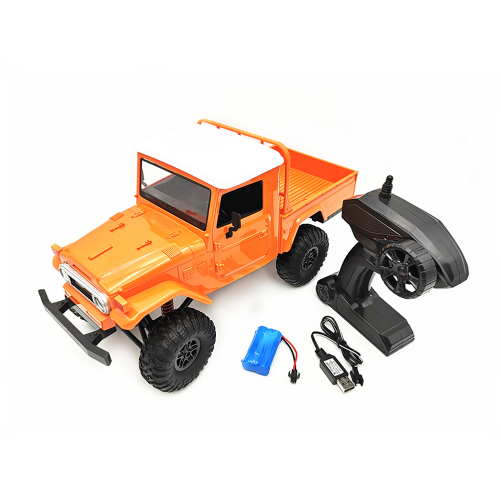 MN Model MN45 RTR 1/12 2.4G 4WD RC Car with LED Light Crawler Climbing Off-road Truck Orange
