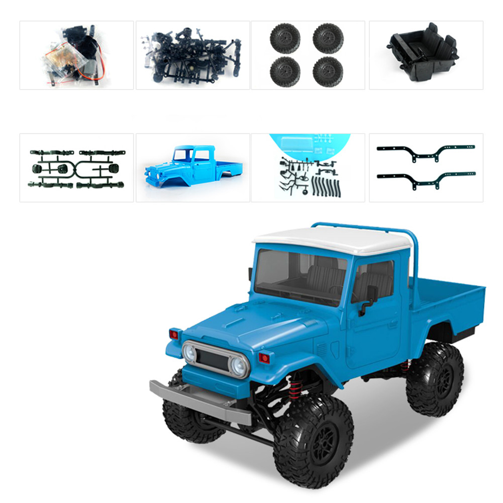MN Model MN45 KIT 1/12 2.4G 4WD RC Car without ESC Battery Transmitter Receiver Blue
