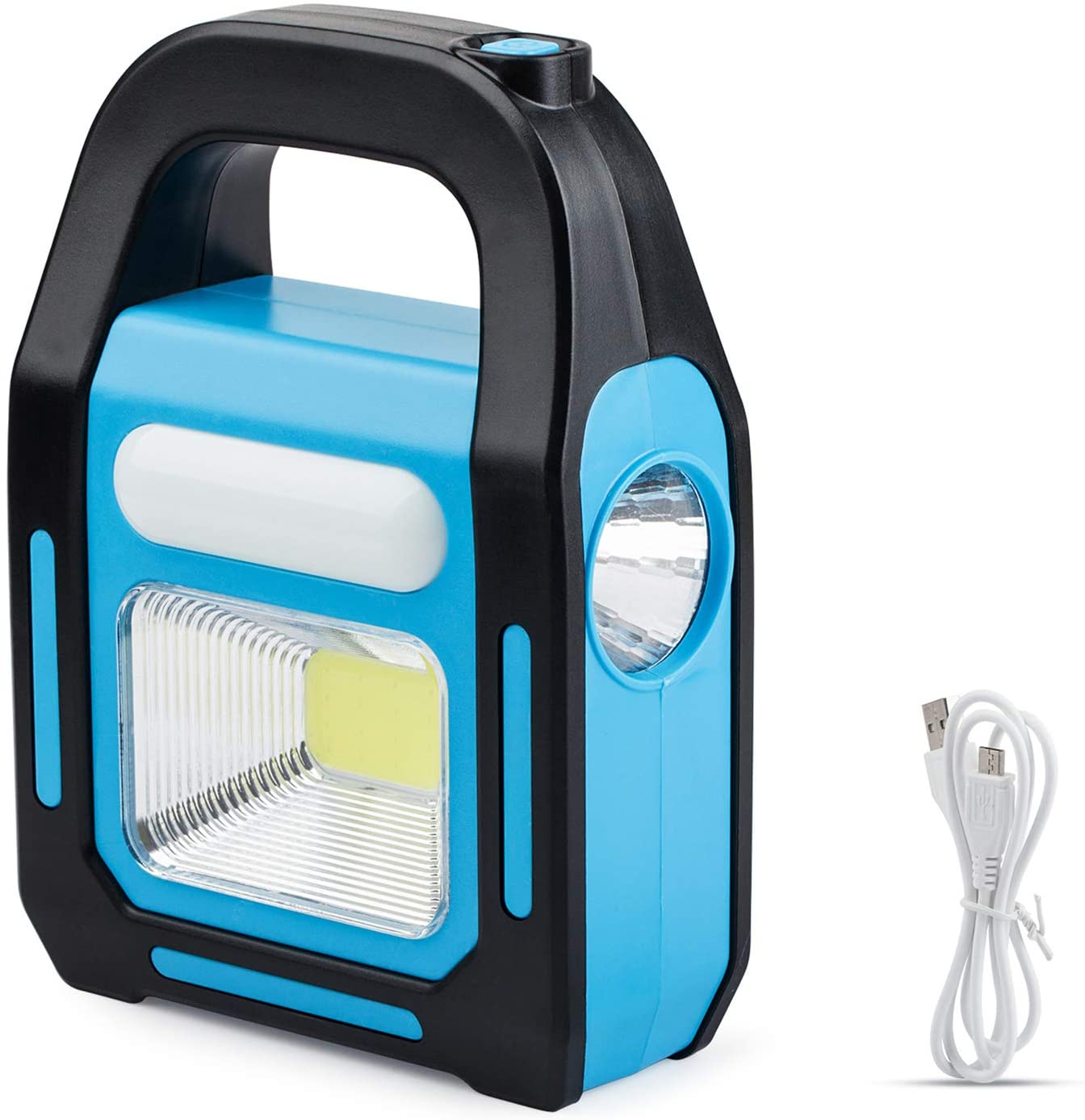3 In 1 Handheld Solar Rechargeable Led Outdoor  Light For Camping Repairing Emergency Backup Device Style 4 (black + blue)