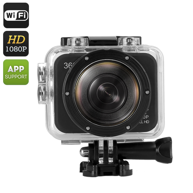 Panoramic 360 Action Camera (Black)
