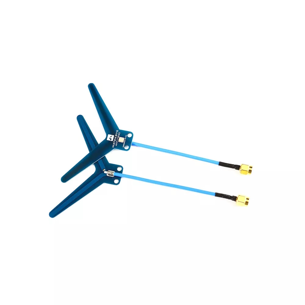 Matek System Mateksys VRX-1G3-V2 / VTX-1G3 1.3GHz FPV Video 2CH 9CH Transmitter 9CH Wid Band Receiver RC Drone Long Range Goggle ANT-Y1240 2pcs