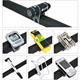 Blackcell MTB Cycling Bike Bicycle Silicone Band Flash Light Flashlight Phone Strap Tie Ribbon Mount Holder(Pack of 6)