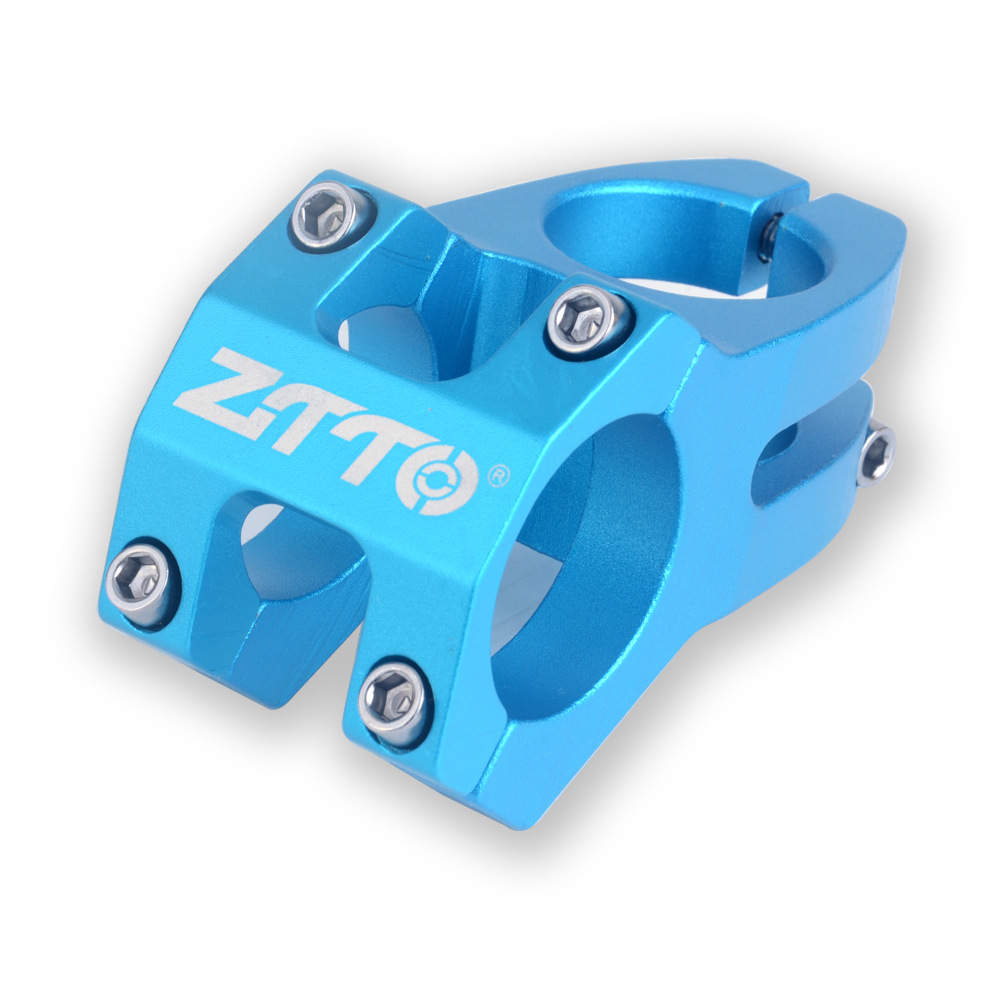 ZTTO Mountain Bicycle Hollow Riser Speed Drop Handle Stand 31.8MM Short Handle Stand 45MM Long blue