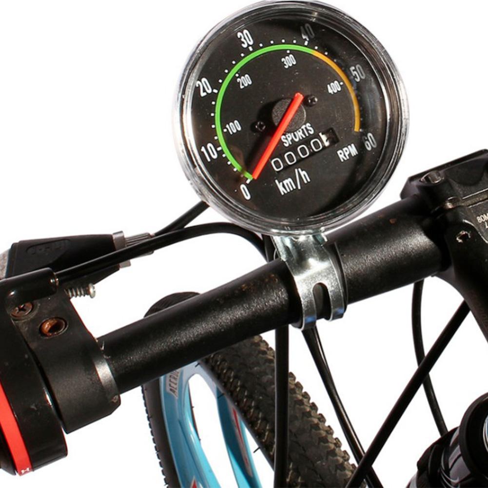 Bike Cycling Speedometer Odometer Mountain Bike Round Meter Gauges Stopwatch Riding Equipment