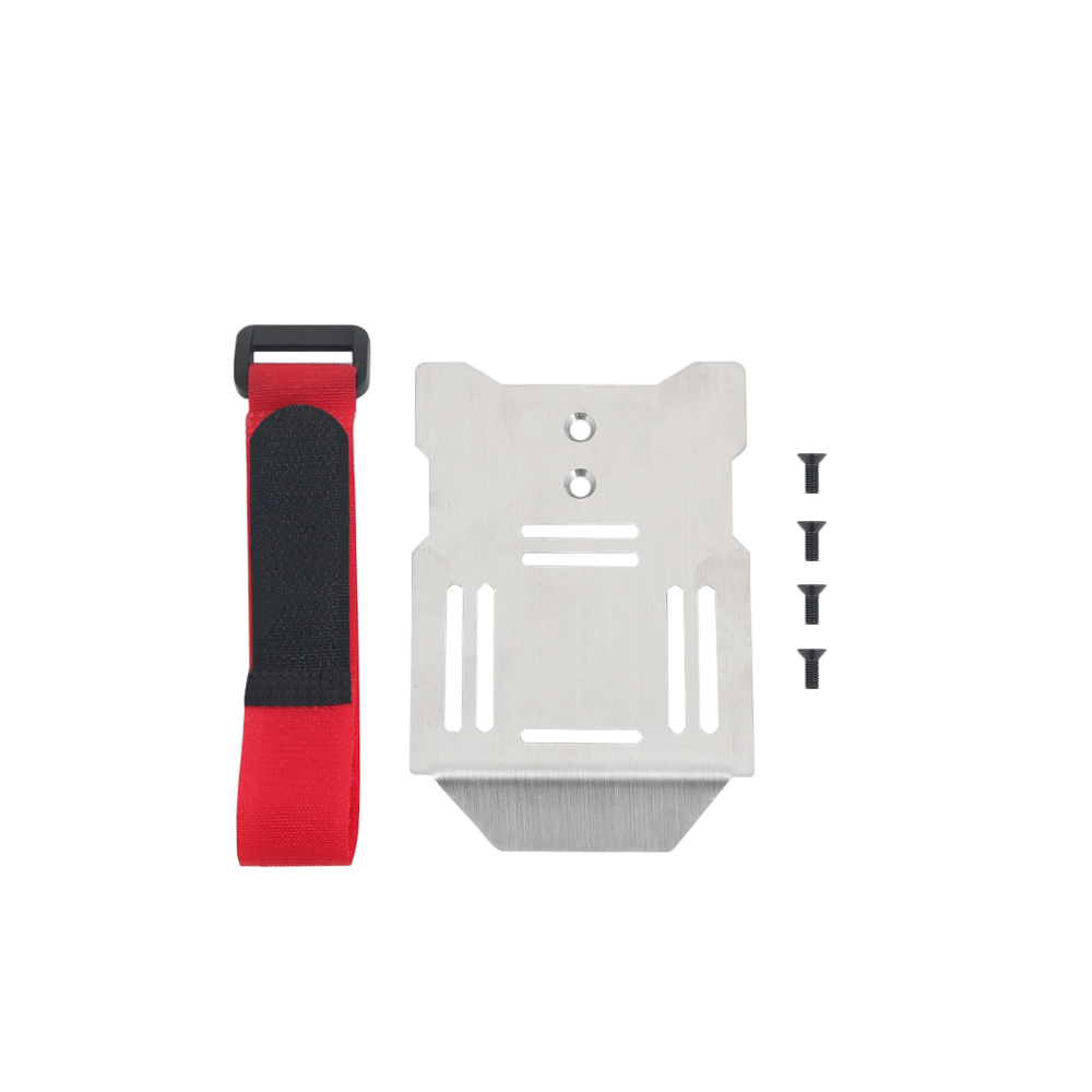 Metal Battery Plate Holder Expanding Board Mount Relocation w/Strap for TRX4 G500 1/10 RC Rock Crawler Car as shown