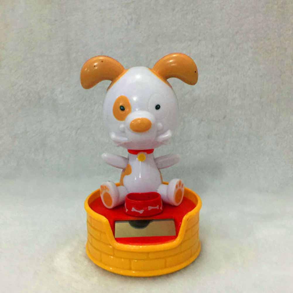 Halloween Shook His Head Doll Solar Powered Dancing Christmas Gift Swinging Animated Toy Car Decor 11cm high