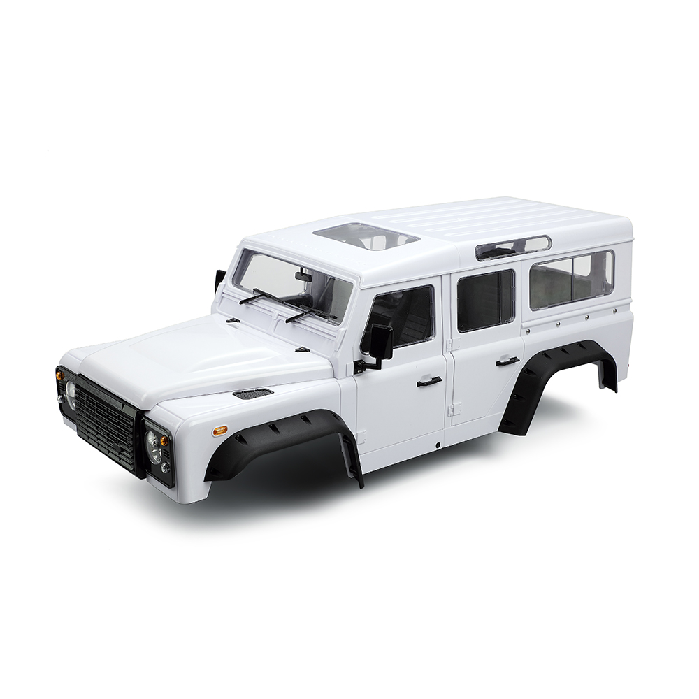 313mm 12.3in Wheelbase D110 Defender Body Shell for 1/10 RC Crawler Car Traxxas TRX4 Axial SCX10 90046 White