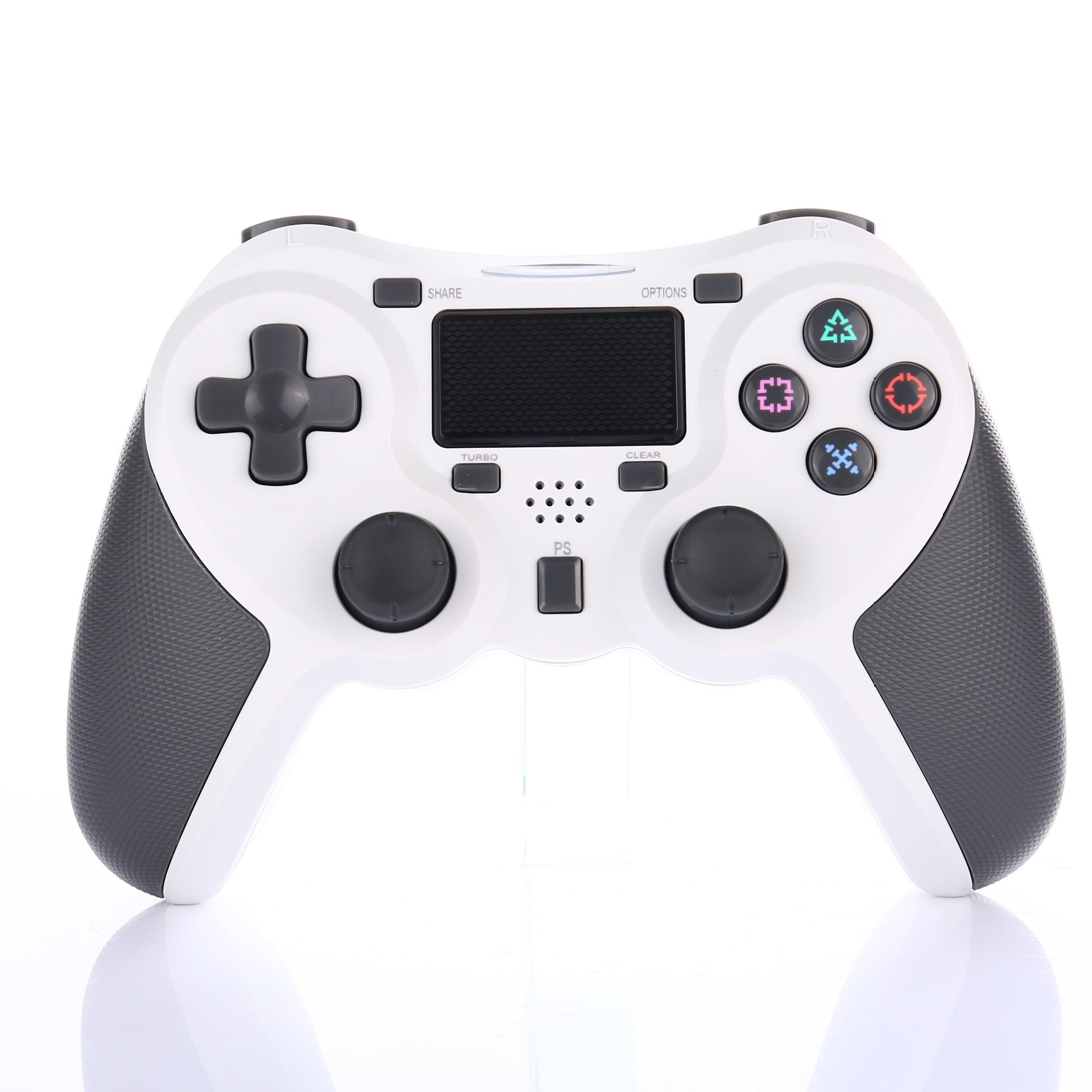 Bluetooth Gamepad Wireless Joystick Controller for Playstation 4 PS4 Game Console Support Android TV white