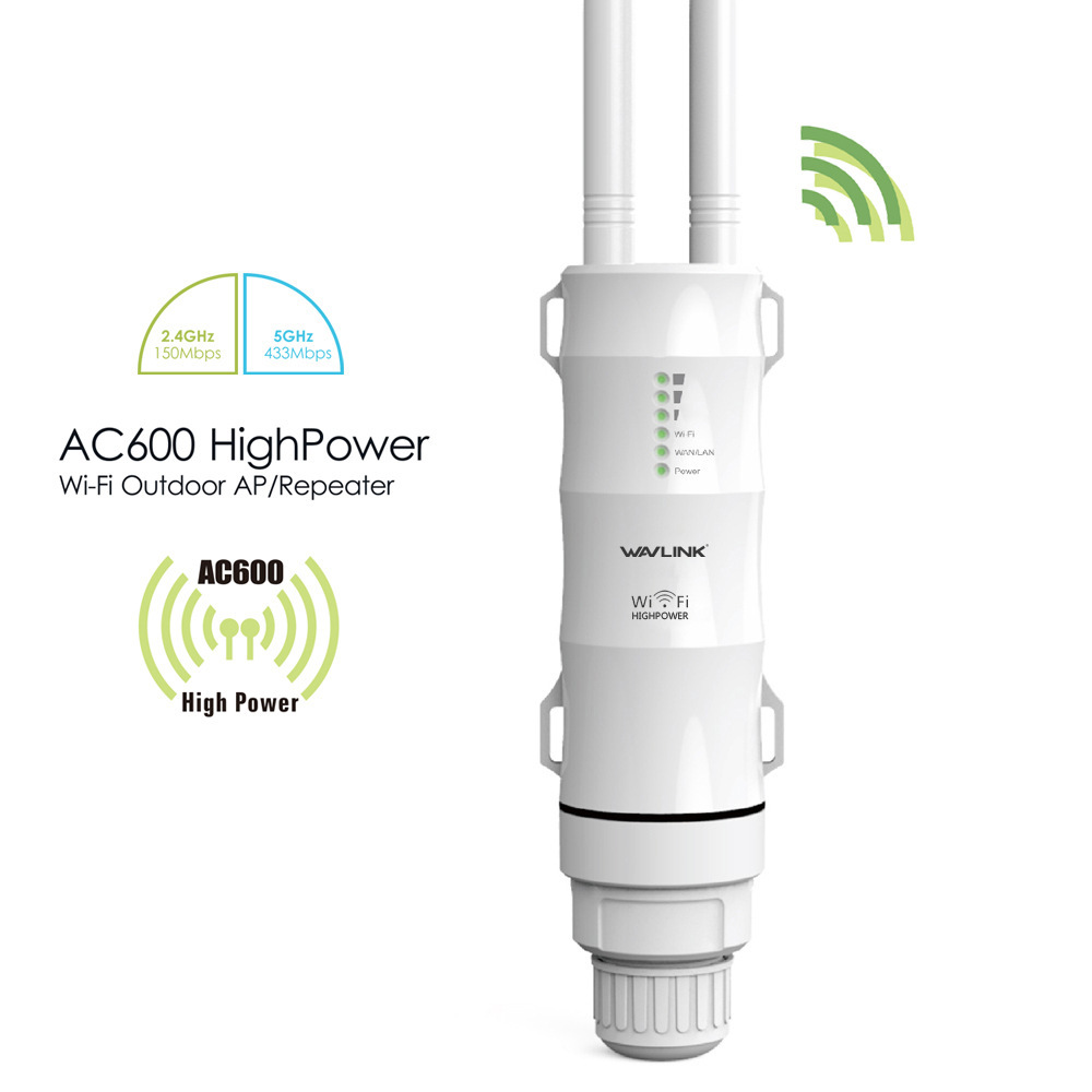AC600 Outdoor Wifi AP/ Repeater / WISP High Power 2.4GHz/5Ghz Wifi Router with Dual Antenna UK plug