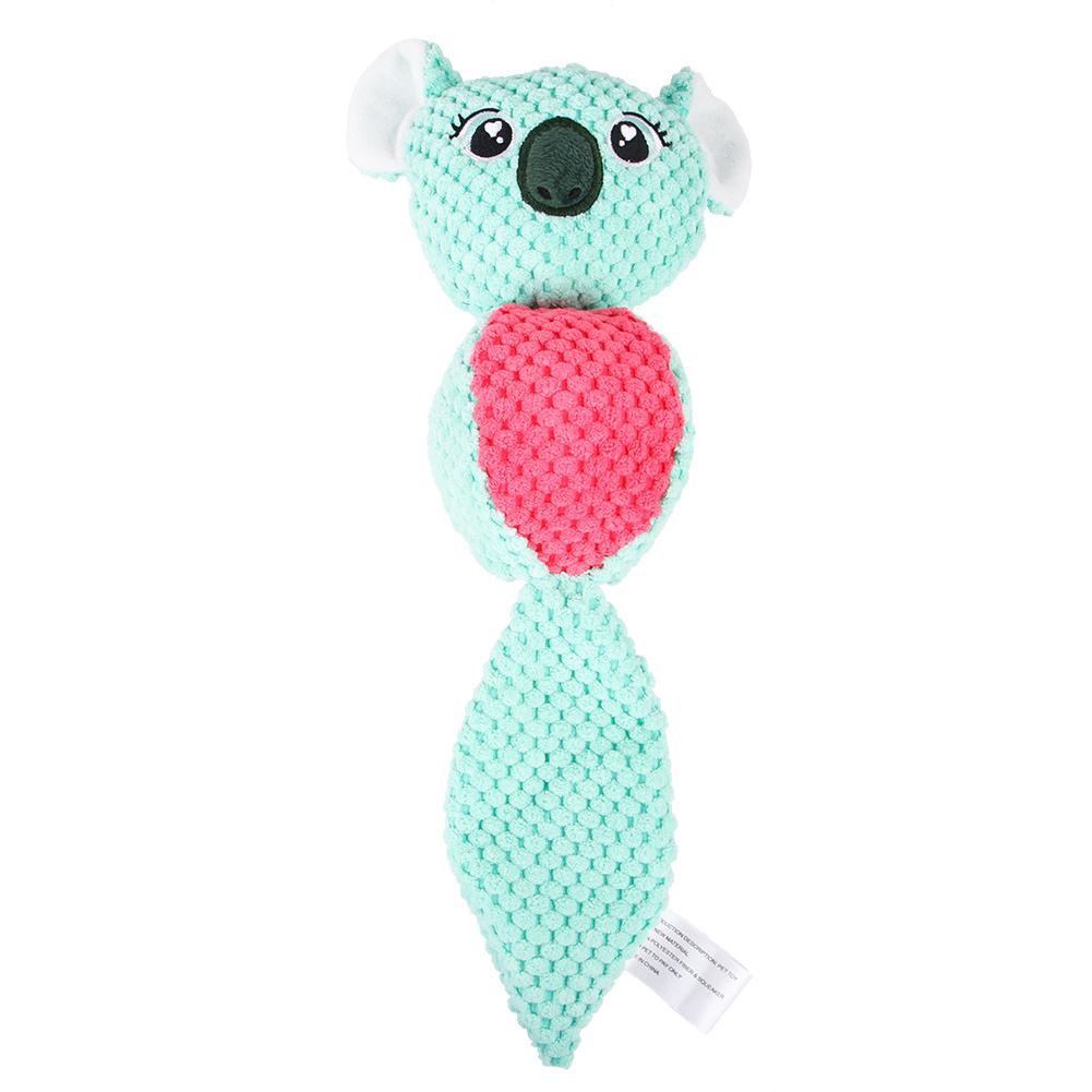 Cartoon Plush Doll Toys Squeaking Teeth Cleaning Small Mudium Dog Puppy Chew Toy Koala