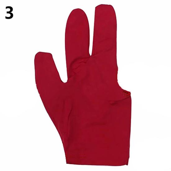10pcs Billiards Three-finger Gloves Snooker Yoyo Gloves red