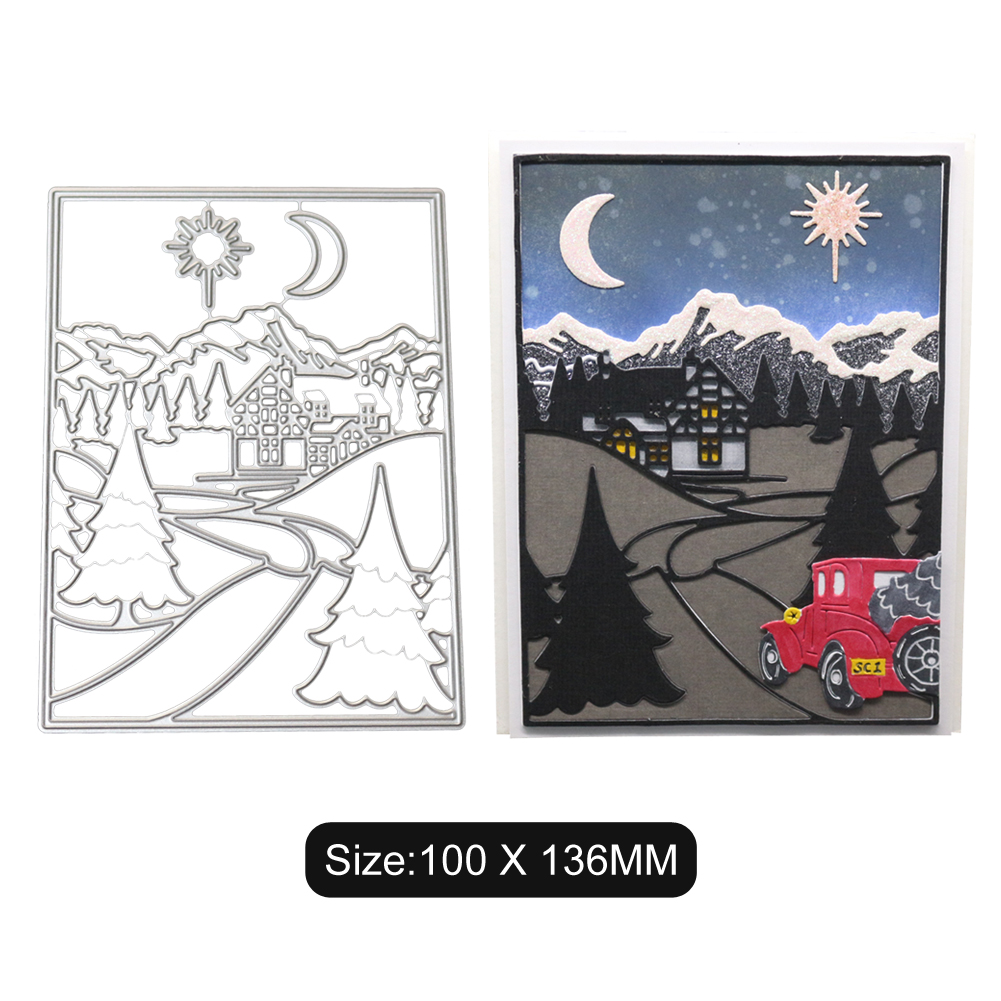 On The Way Home Driving Pattern DIY Carbon Steel Cutting Dies for Scrapbook
