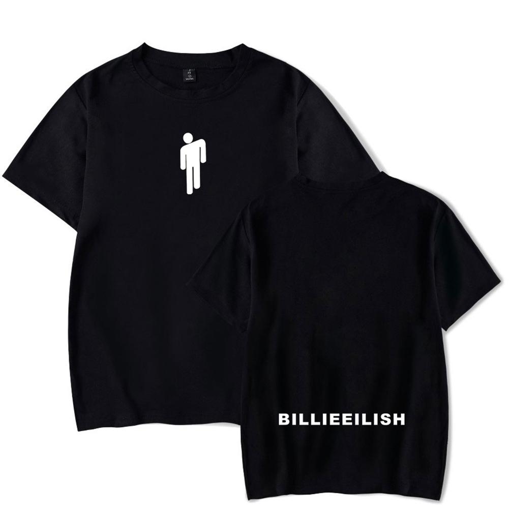 Fashion Young All-matching Soft Cotton T-shirts Black C_M