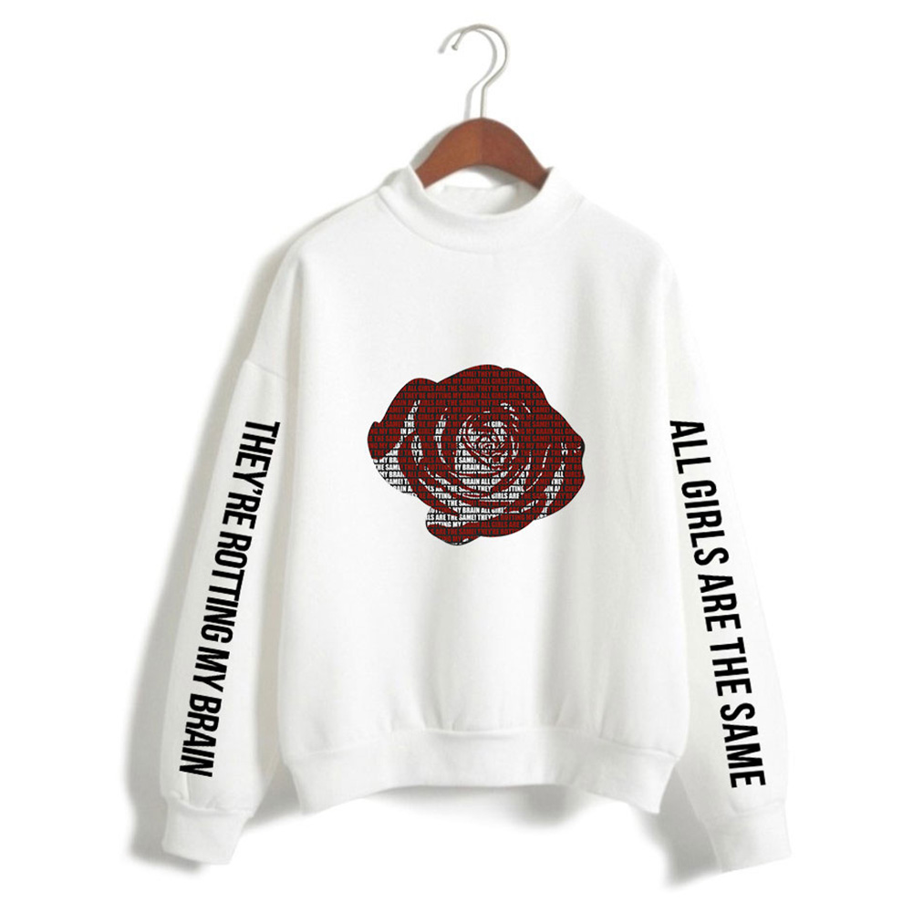 Men And Women Printed Fashion Casual Turtleneck Sweater Tops 2#_S
