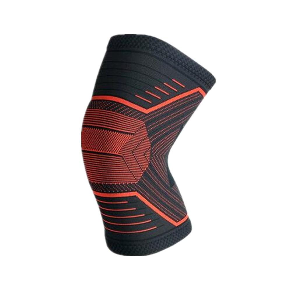 Knee Protector Sports Basketball Equipment Running Training Knee Leg Protector Black Fluorescent Orange L