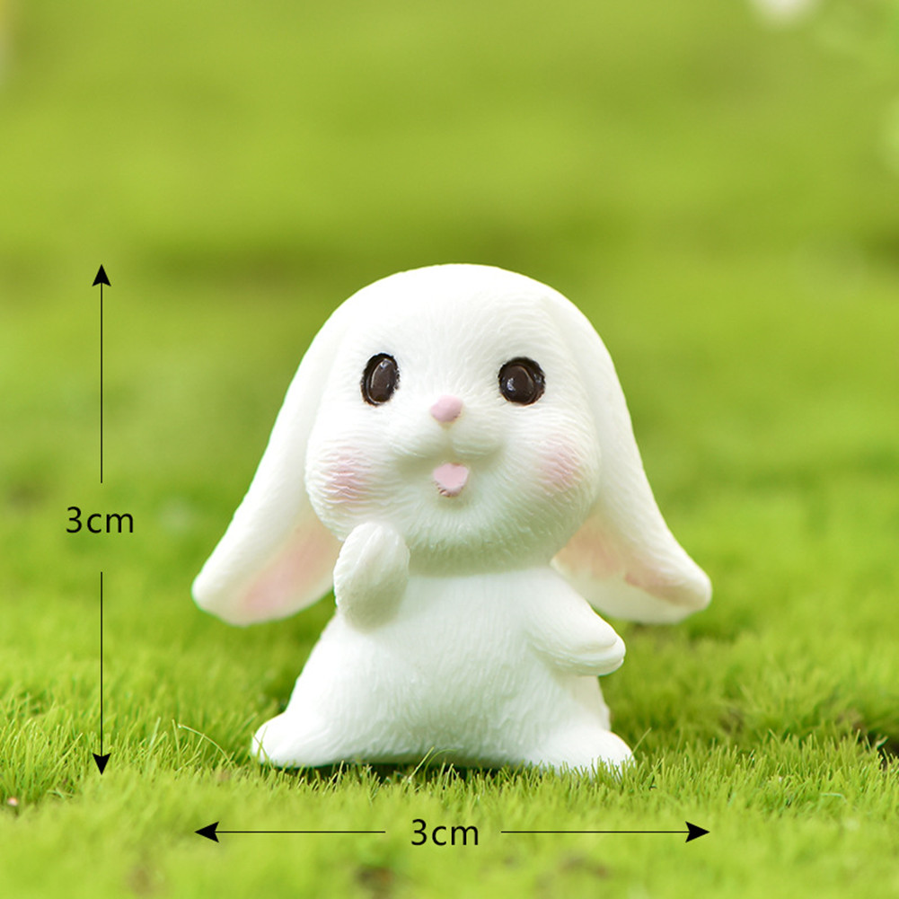Cartoon Rabbit Easter Animal Model Micro Landscape Home Decor Garden Decoration Accessories #5