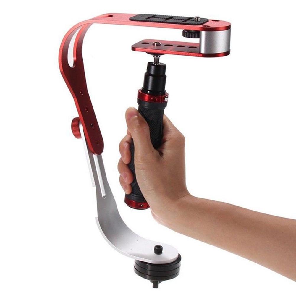 Pro Camera Stabilizer Handheld Steadicam for Camcorder DSLR Gimbal red