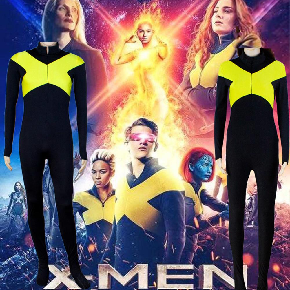 Women Cool X-Men:Dark Phoenix Cospaly Sweatshirt Bodysuit Stage Performance Clothing