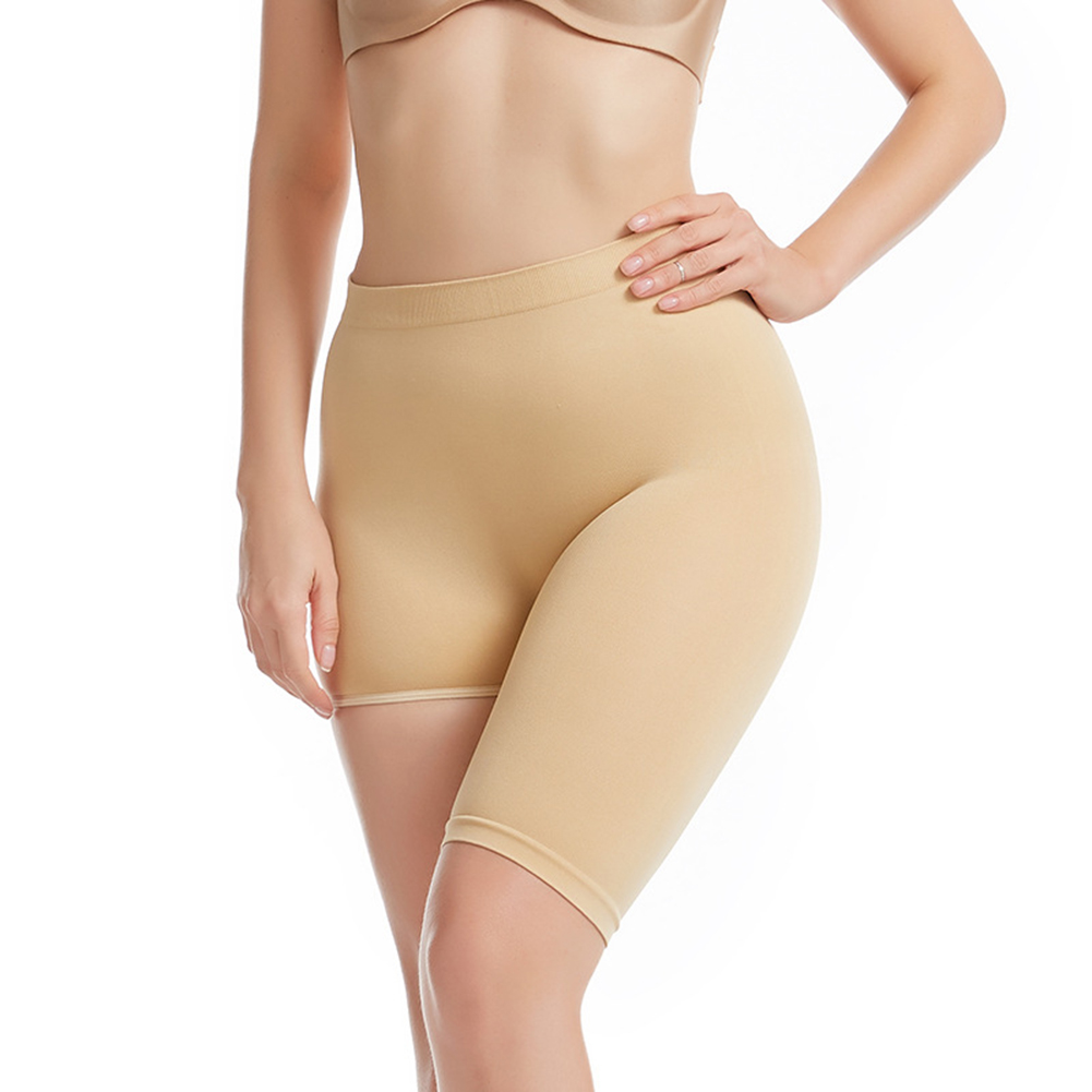 Women's Underpants  Nylon Skinny Seamless High-waisted  Belly Hip-lifting  Shaping Pants skin color_m