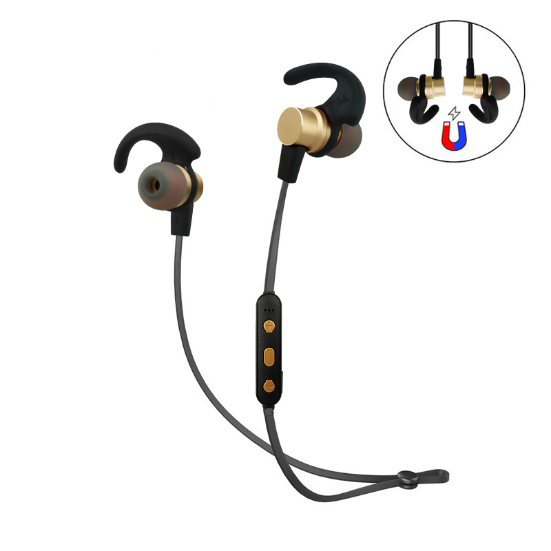 Wireless Stereo Bluetooth Earphone Neckband Sports Earphone Auriculare CSR Bluetooth for All Phone Gold