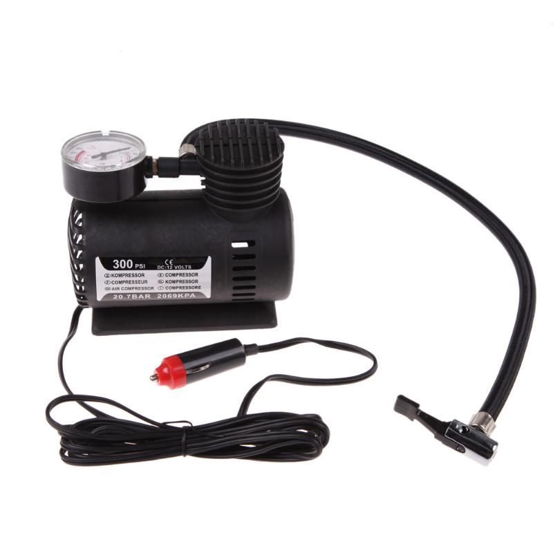 Portable 12V Auto Car Electric Air Compressor Tire Infaltor Pump for Motorbike Car
