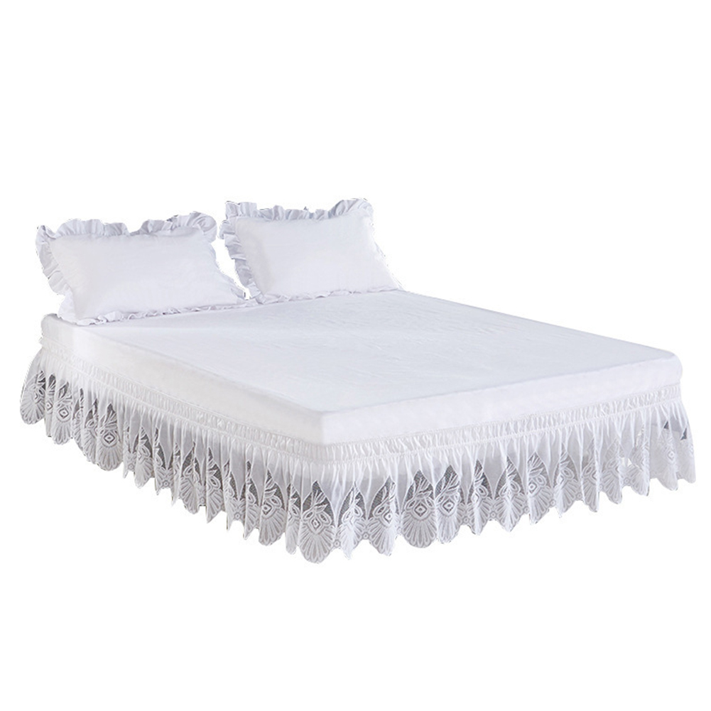 Princess Lace Bed Skirt Elastic Bed Skirt Wrap Bed Skirt