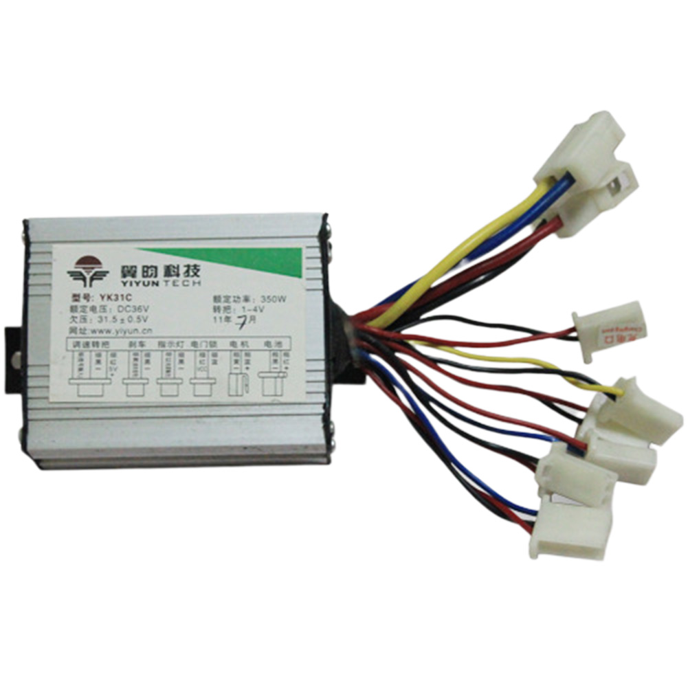 Electric Scooter Motor Brush Speed Controller 24V 350W For Vehicle Bicycle Bike Electric Bike Accessories 36V