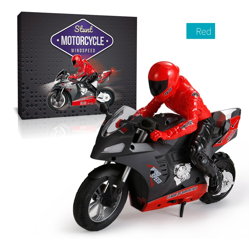 DG-801 1/6  Self-Balancing RC Motorcycle 6 axis of gyroscope Stunt Racing Motorcycle Plastic Mini Motorcycle Toy red