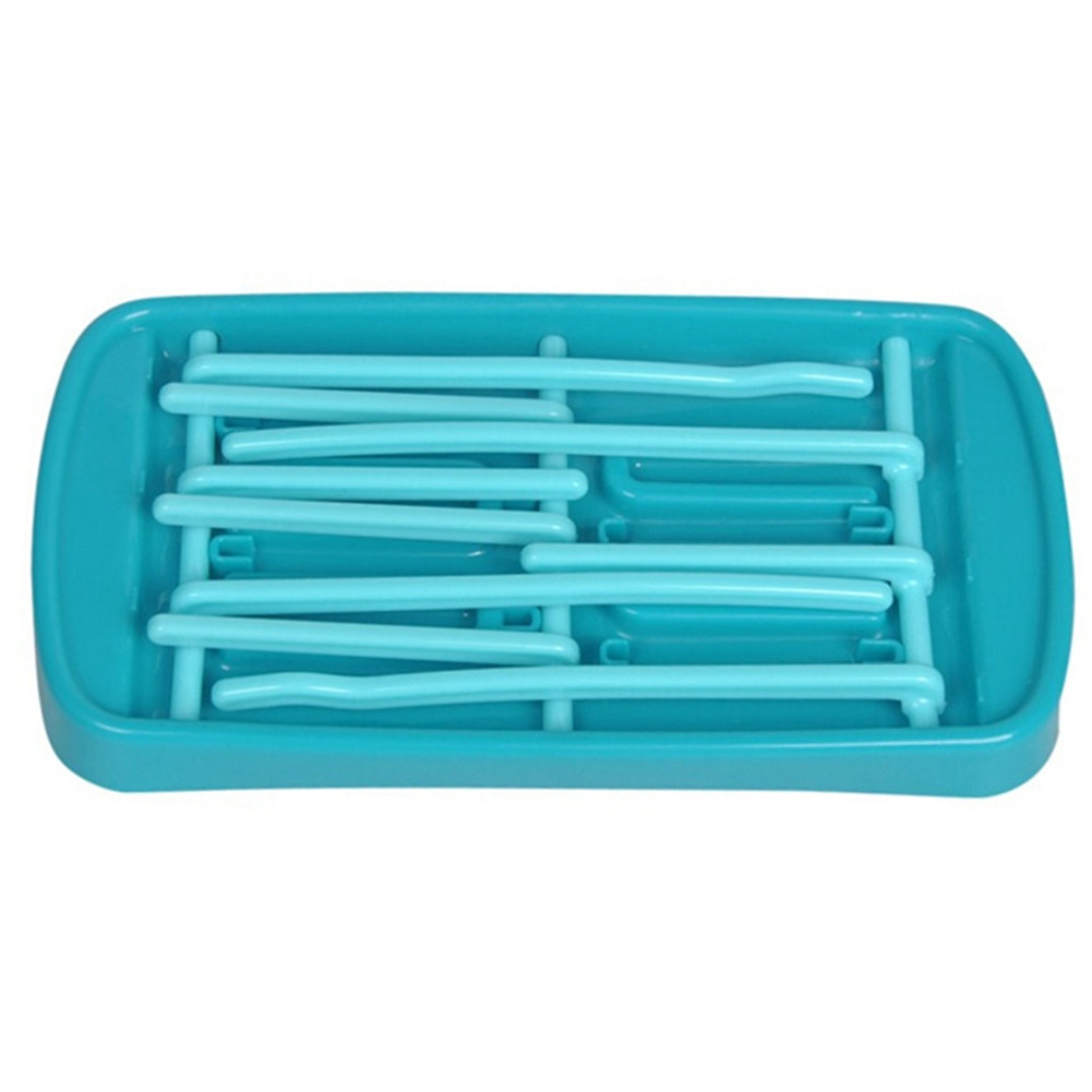 Simple Tri-fold Baby Bottle Drying Rack Storage Water Cup Shelf blue