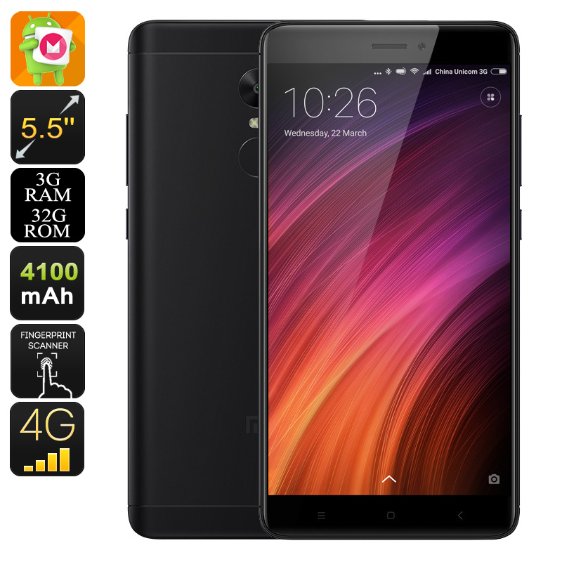 Android Phone Xiaomi Redmi Note 4X (Black)
