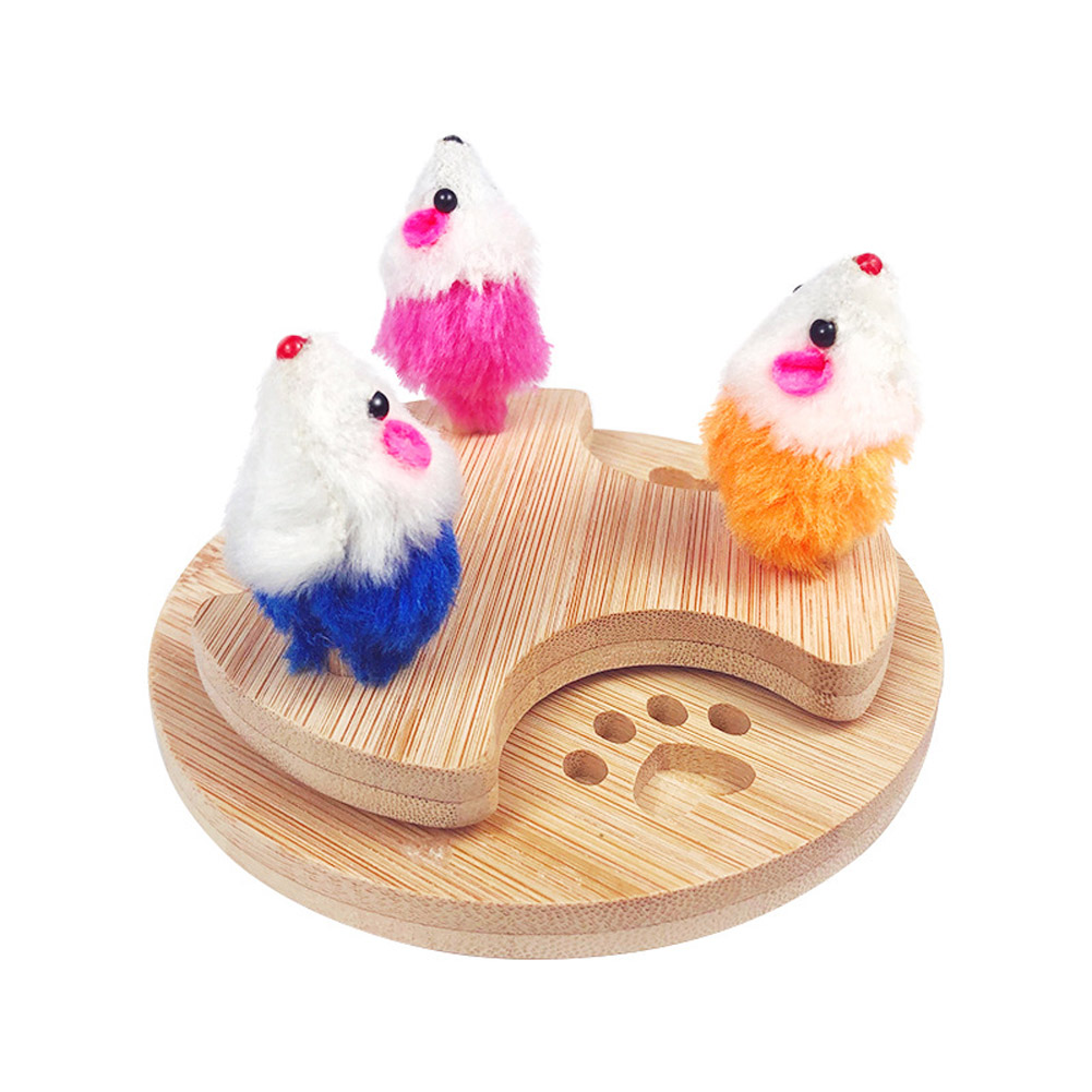 Simulation Mouse Scratching Plate Pet Cat Turntable Toy Scratcher Plate As shown in color_L