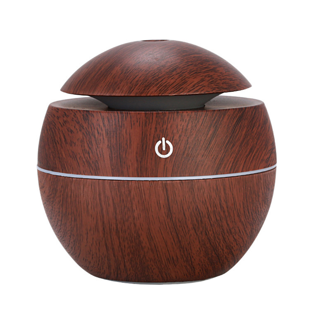 Wood Grain Mist Humidifier USB Charging Mute Tabletop Aromatherapy Machine for Home Office Dark wood grain