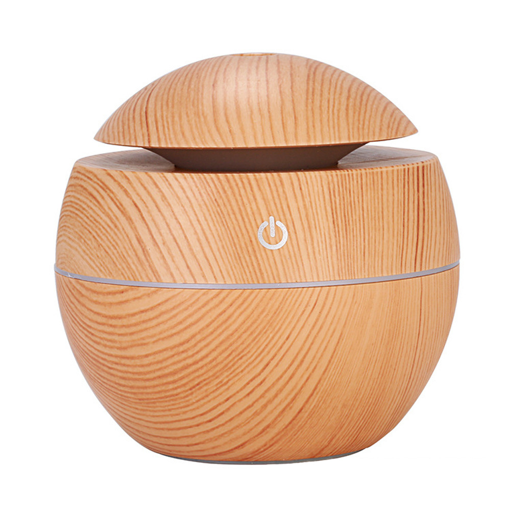 Wood Grain Mist Humidifier USB Charging Mute Tabletop Aromatherapy Machine for Home Office Light wood grain