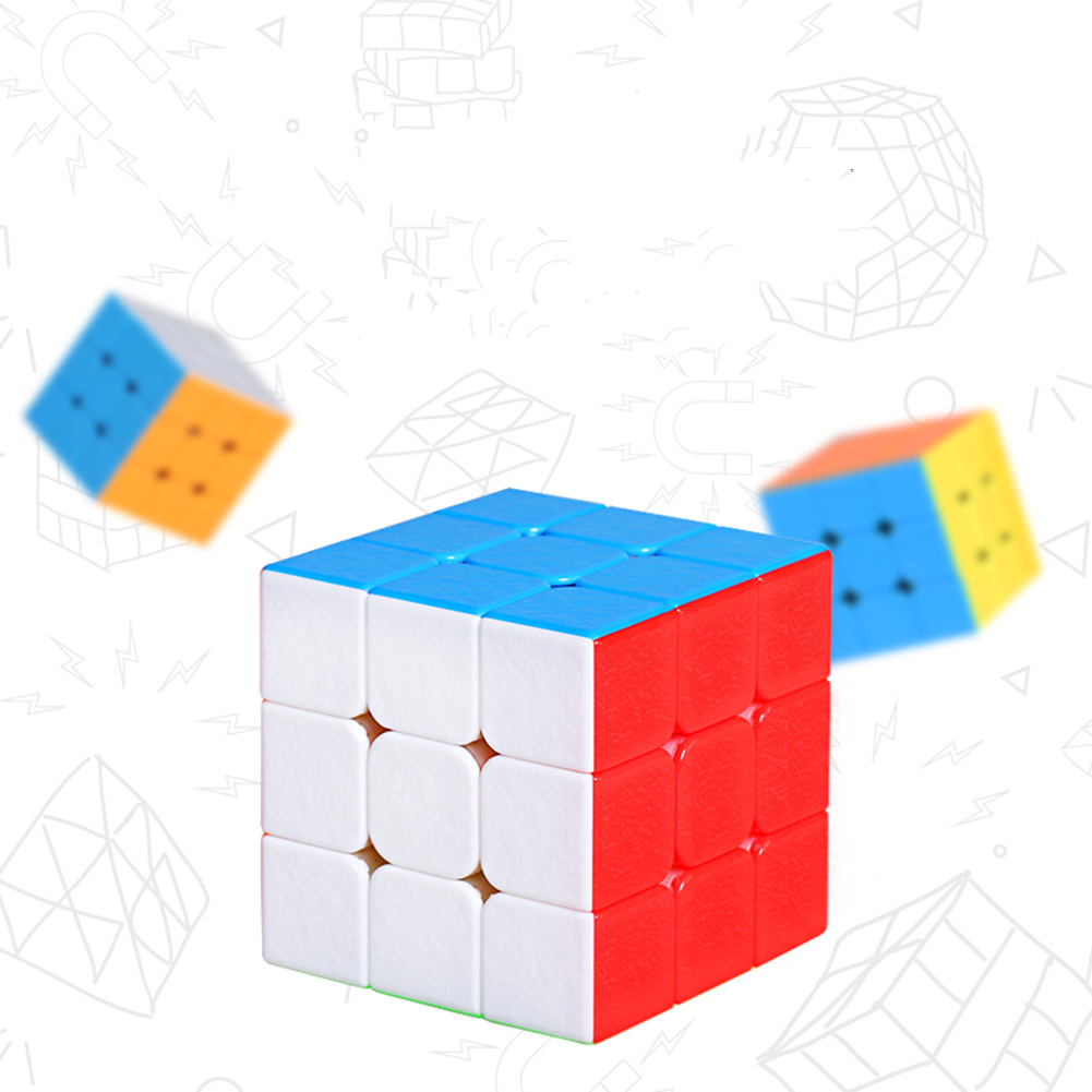 [Indonesia Direct] 3 * 3 Creative Magnetic Force Waterorpf Speed Puzzle Cube Intellectual Development Smart Cube Magnetic colorful