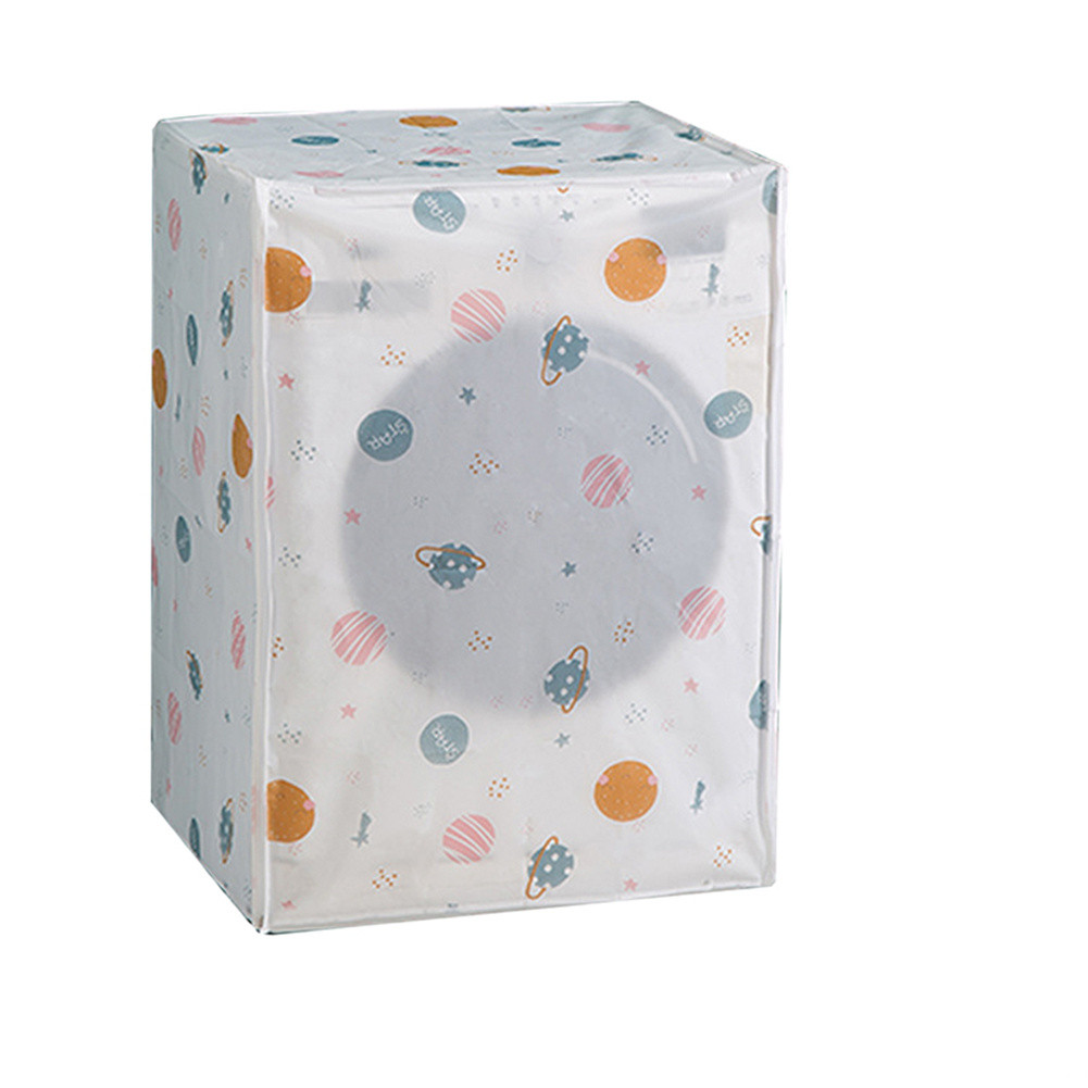 Washing Machine Cover Sunscreen Dust Proof Waterproof Case Washing Machine Protective Jacket Planet-roller