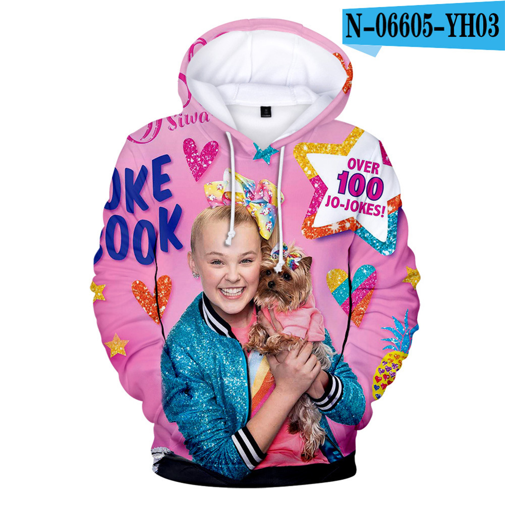 Men Women Hoodie Sweatshirt JOJO SIWA 3D Printing Loose Autumn Winter Pullover Tops D_XL
