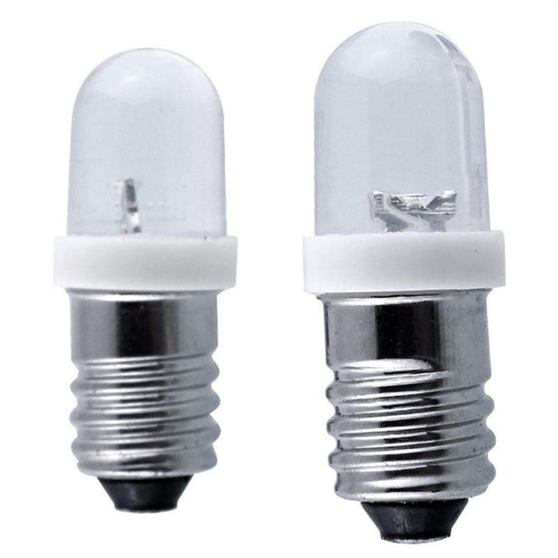 [EU Direct] E10 Light Bulbs DC 6/12/24V LED Screw Base Indicator Bulb Mini Warning Signal Lamp