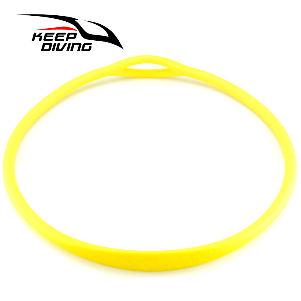 Scuba Diving Silicone Necklace Second Stage Mouthpiece Holder Regulator Accessories yellow