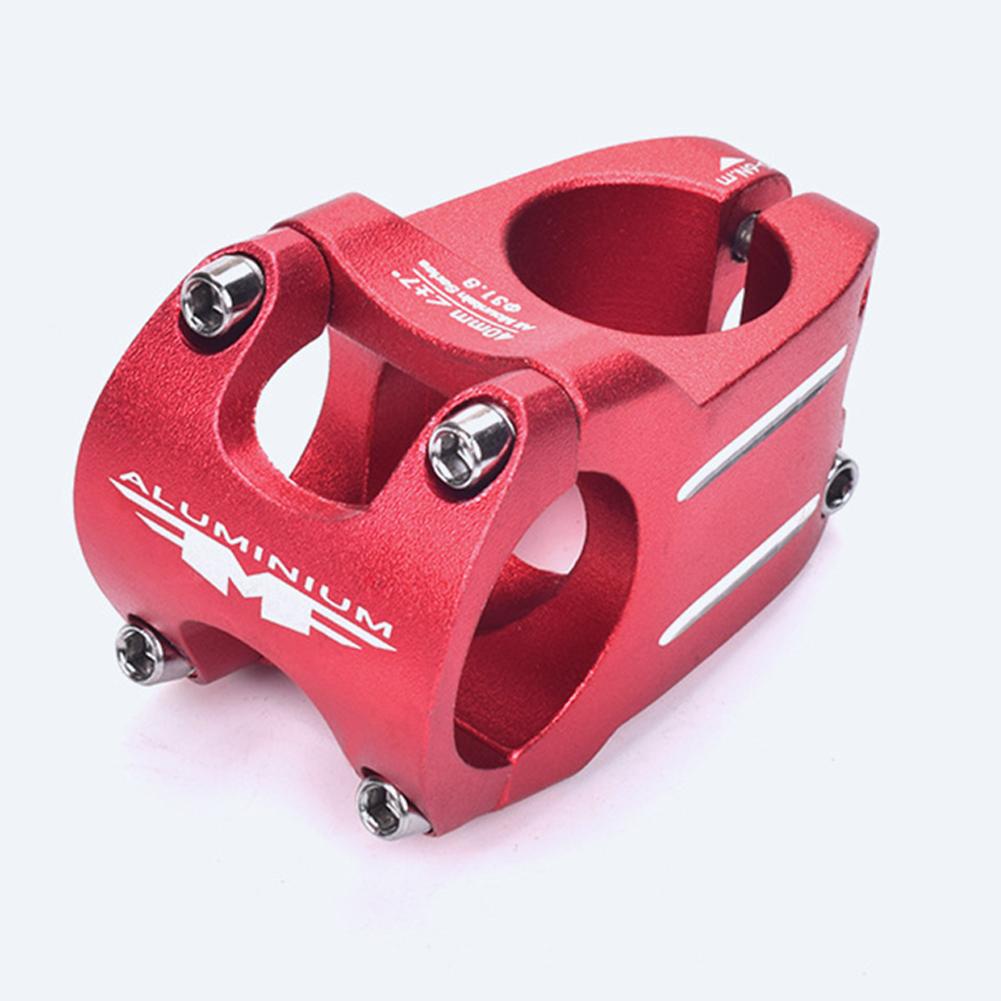MTB Bike Handlebar Stem Bicycle Stem 31.8*40 MM Aluminum Alloy Bicycle Short Handlebar Stem Riser Fixed Bar Cycling Accessories 31.8*40mm handlebar - red