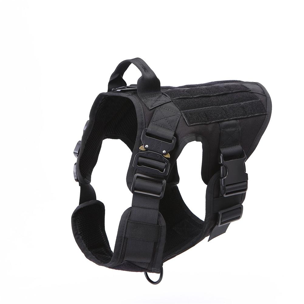 1000d Nylon Dog  Vest Outdoor Pet Vest With Buckle Quick Release Vest For Dog black_L