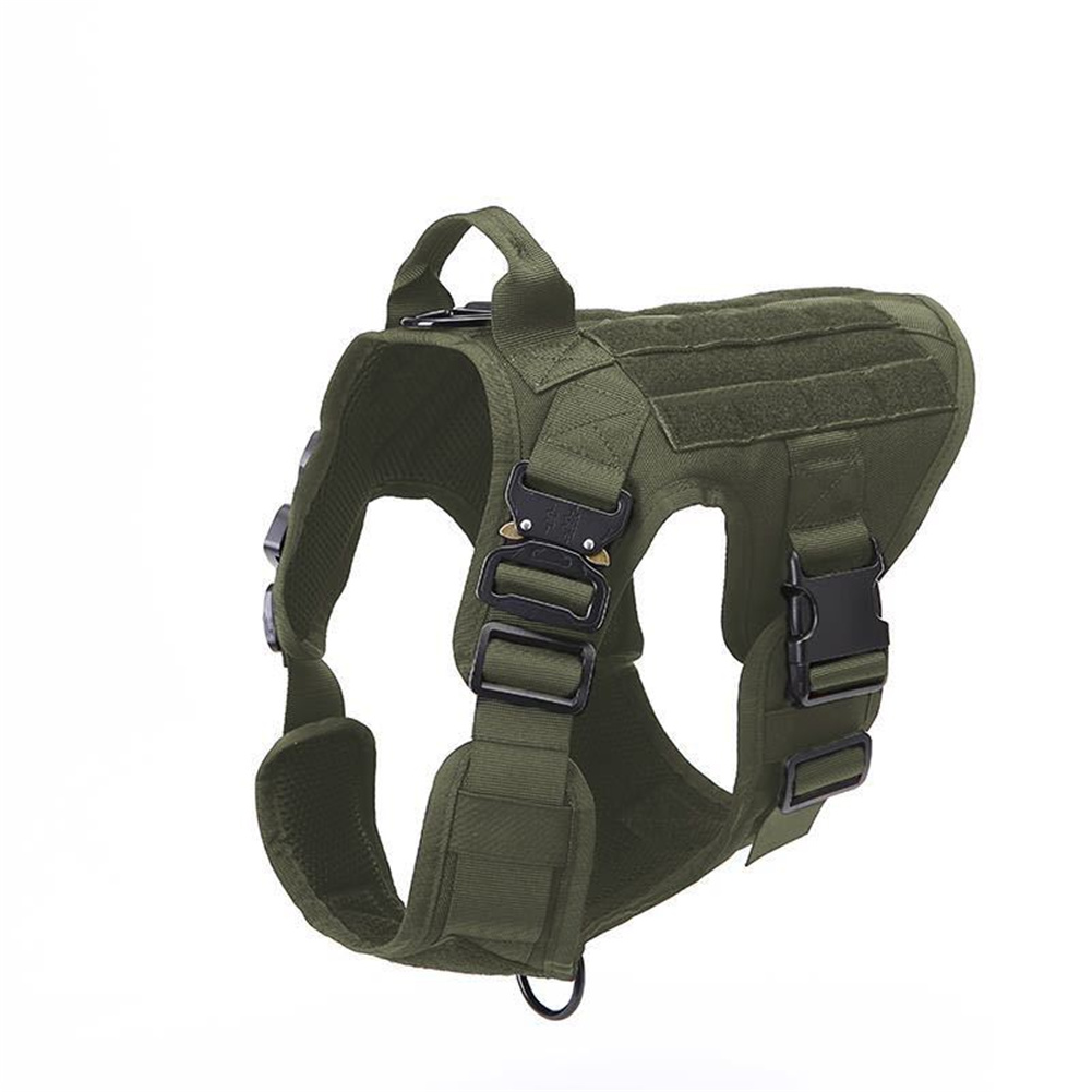 1000d Nylon Dog  Vest Outdoor Pet Vest With Buckle Quick Release Vest For Dog green_M